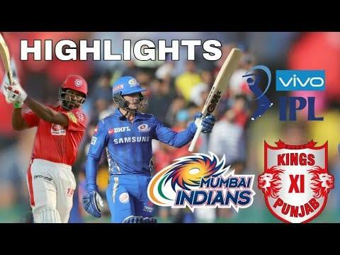 Kxip Vs Mi 9th Match Cricket Highlights Ipl 2019 Gifincric