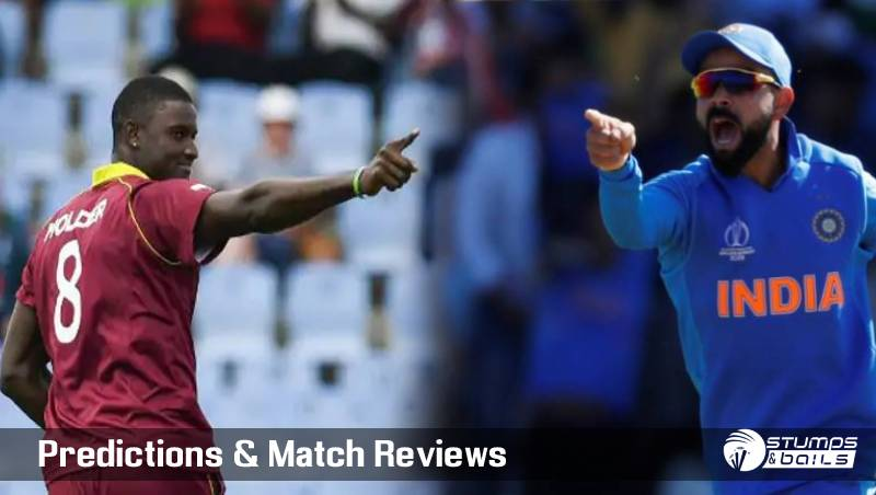 West Indies vs India 1st ODI Aug 8, 2019 Live Score and Live